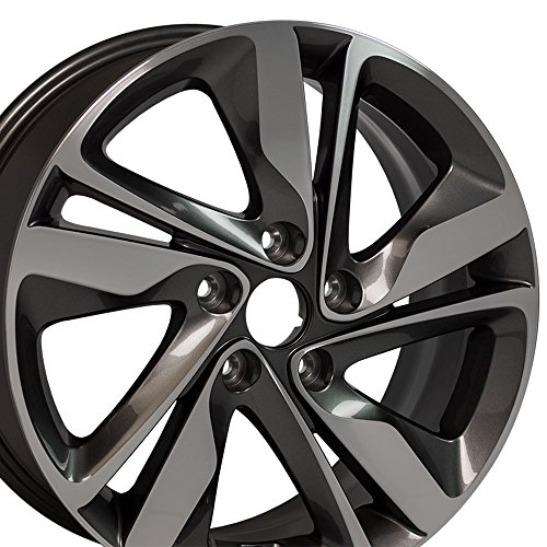 17x7 OEM Hyundai Elantra Wheel Fits Hyundai, Kia Gunmetal Mach'd Face Rim, Hollander 70860A Kia Sportage Rims