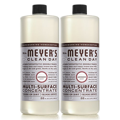 Surface Cleaner Concentrate (MRS MEYERS Multi-surface Concentrate, Lavender, 32 Fluid Ounce (Pack of 2))