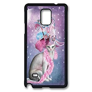 samsung note 4 Case, note 4 Case, Shock-Absorption Back Case for samsung note 4 Witchy Cat Hatter Scratch Hard Back Case for samsung note 4