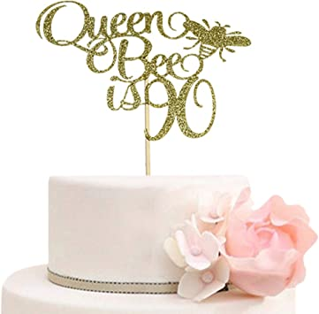 Fabulous Queen Bee Is 90 Cake Topper 90Th Anniversary Mothers Birthday Personalised Birthday Cards Beptaeletsinfo