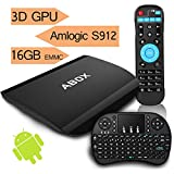 [Free Mini Keyboard] 2017 Model ABOX A3 Android 6.0 TV Box with Amlogic S912 Octa-Core 64-bit ...