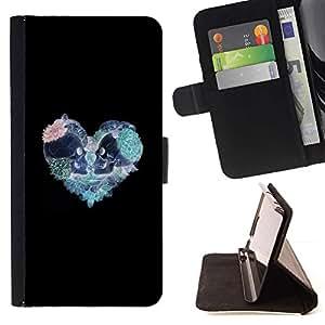 Momo Phone Case / Flip Funda de Cuero Case Cover - Corazón del trullo rosado del modelo del cráneo Negro - HTC Desire 626