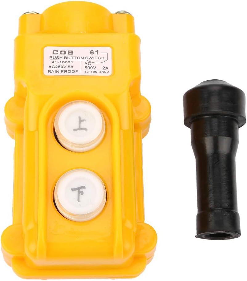 ABS plastic Crane Hoist Control Hoist Push Button Switch Silver contact Switch Crane for Electromagnetic Starters Hoist Industrial Components Supplies