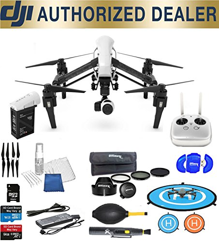 DJI Inspire 1 v2.0 Quadcopter with 4K Camera and 3-Axis Gimbal Best Accessory Basic Bundle Package Deal