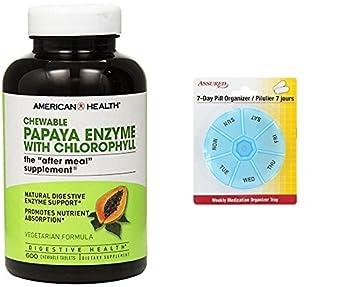 Enzima americana de la papaya de la salud con las tabletas masticables de la clorofila,