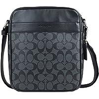 Coach Mens Flight Bag in Signature PVC 54788 in Charcoal/Black