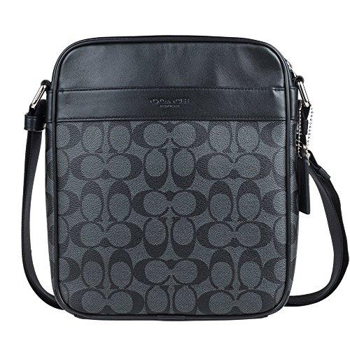 Amazon Com Coach Mens Flight Bag In Signature Pvc 54788 In Charcoal