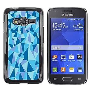 LECELL--Funda protectora / Cubierta / Piel For Samsung Galaxy Ace 4 G313 SM-G313F -- Geometrical Structure Pyramid Triangle Blue --