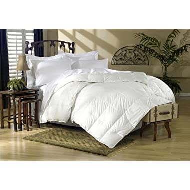 Egyptian Bedding 1200 Thread Count King 1200TC Siberian Goose Down Comforter 750FP, White Solid 1200 TC
