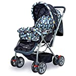 LuvLap Starshine Stroller/Pram, Easy Fold for Newborn Baby/Kids, 0-3 Years (Blue)