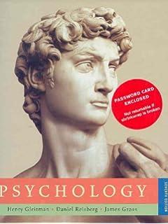 Psychology 7th edition gleitman reisberg & gross.