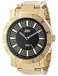 "JBW Men's JB-6225-C ""562"" Pave Dial 18K Gold-Plated Diamond Watch"