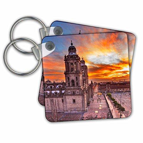 Danita Delimont - Cities - Metropolitan Cathedral at sunrise, Zocalo, Mexico City, Mexico - Key Chains - set of 6 Key Chains (kc_258543_3) (Metropolitan Chain)
