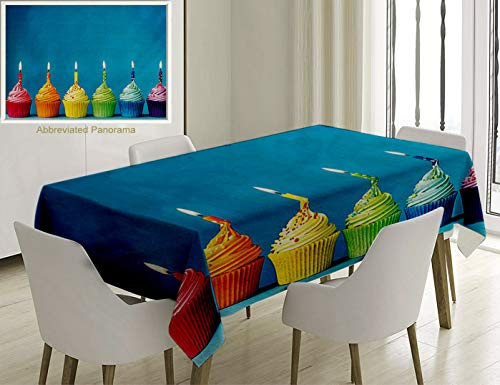 Unique Custom Cotton And Linen Blend Tablecloth Birthday
