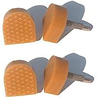 12 PCS(6Pairs) Beige Non-Slip U-Shape Heel Tips Heel Caps Cover Protectors High Heel Shoes Replacement Heels Tips Shoes…