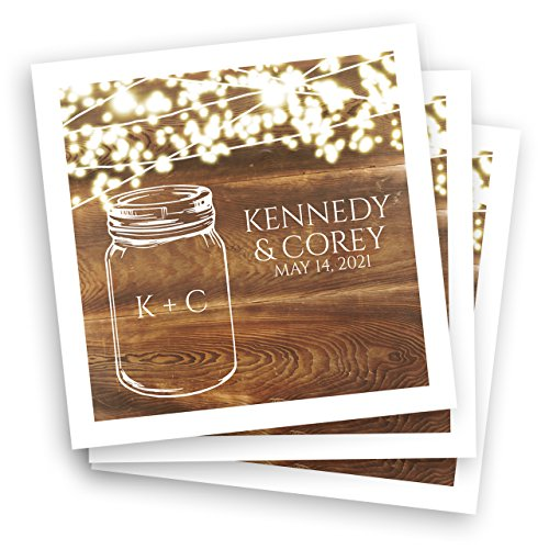 Country Sparkler Personalized Beverage Cocktail Napkins - 100 Custom Printed Paper Napkins by Canopy Street (Image #2)