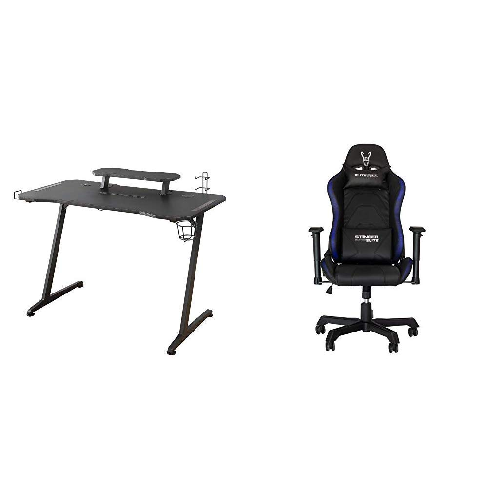 Woxter Stinger Gaming Desk Elite - Mesa Gaming de Escritorio, Leds ...