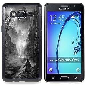 Stuss Case / Funda Carcasa protectora - Negro Pintura White Castle Vampiro - Samsung Galaxy On5 O5