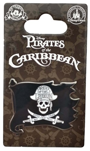 - Disney Pin - Pirates of the Caribbean - Skull and Crossed Swords Flag