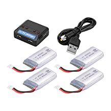 XCSOURCE 4pcs 3.7V 850mAh Rechargeable Battery + USB 4in1 Charger for Syma X5 X5C X5SC X5SW RC Drone Quadcopter BC687