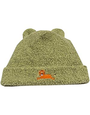 Baby Boys Jungle Jaunt Sherpa Footie Hat - Green
