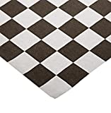 Bagcraft Papercon 300308 Dry Wax Paper Wrap and Liner, 12'' Length x 12'' Width, Big Black Check (2 Packs of 1000)