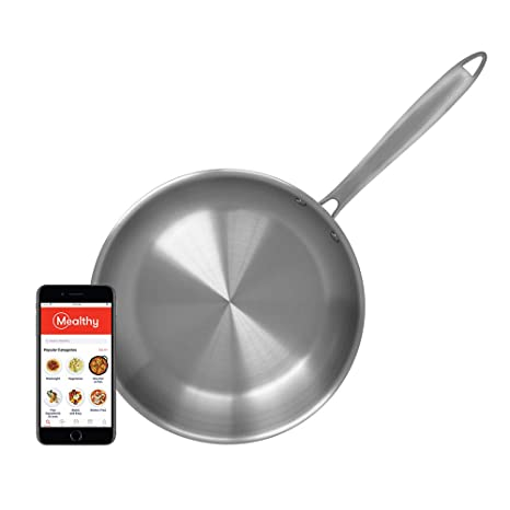 Amazon.com: Mealthy - Sartén de acero inoxidable de 10 ...