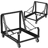 Flash Furniture 2 Pk. HERCULES Series Black Steel Sled Base Stack Chair Dolly