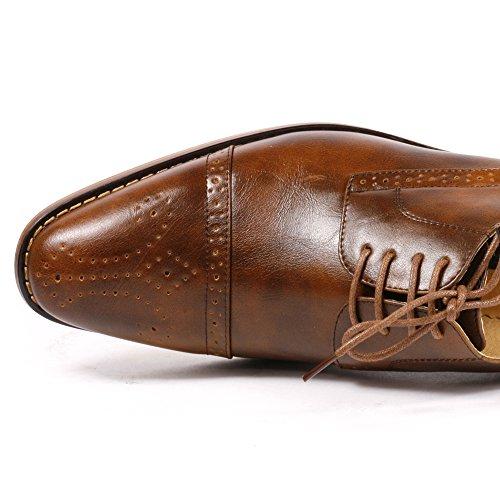 Uv Signature Uvs20a Hombres Brown Cap Toe Perforado Lace Up Oxford Dress Zapatos Run Big