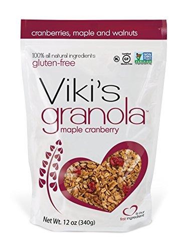 Cranberry Cereal (Viki's Granola Maple Cranberry, Gluten Free, Non-GMO, 12-ounce bag)