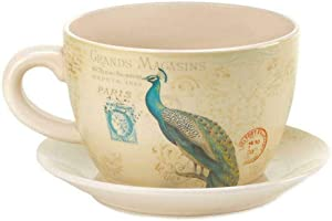 Koehler Home Decor Peacock Teacup Planter