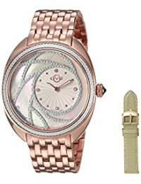 GV2 by Gevril Women's 'Ancona' Swiss Quartz and Stainless-Steel Casual Watch, Color:Rose Gold-Toned (Model: 3701)