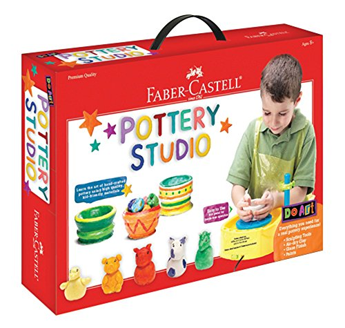 Faber-Castell Do Art Pottery Studio, Pottery Wheel Kit for Kids (Clay Maker)