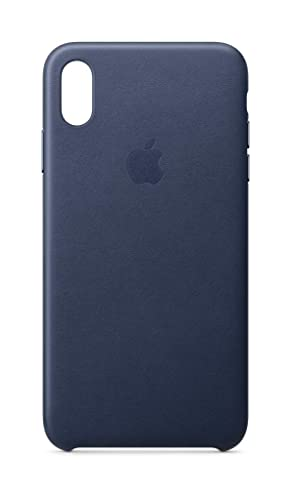 best loved 030cc e5ebf Apple Leather Case (for iPhone Xs Max) - Midnight Blue