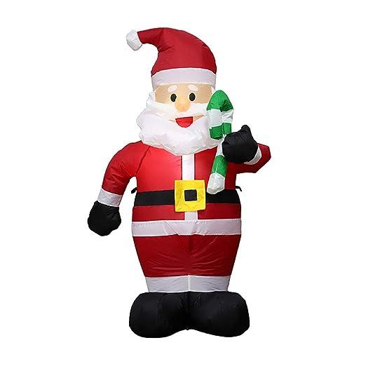 Papá Noel de regalo, wulau inflable LED iluminado Papá Noel ...