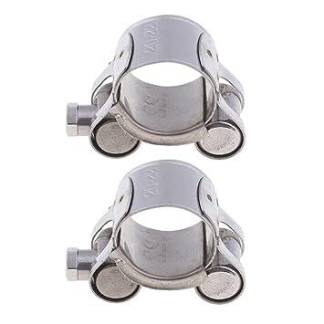 2 Stücke Universal 26-28mm Abgasrohrschelle Universal Fit für 20mm-22mm