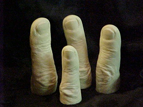 Man Finger Embeds 4 Cavity Silicone Mold 1814 Food-Soap-Candle-Resin-Flexible