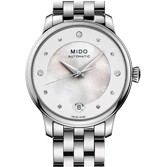 Mido Baroncelli Reloj de Mujer Diamante automático 27.9mm M039.207.11.106.00: Amazon.es: Relojes