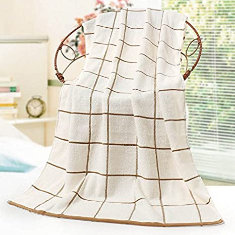 junchen 1 unidades 70 * 140 cm Plaids patrón suave algodón toalla para adultos pelo mano toallas de mano, b: Amazon.es: Jardín