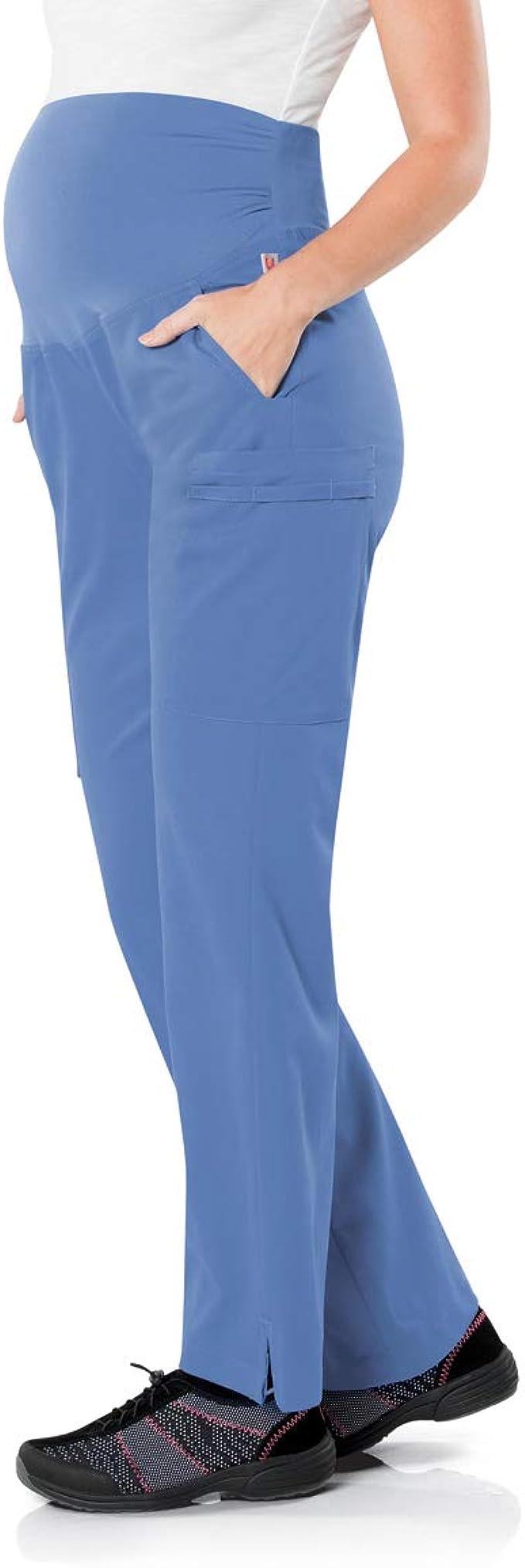 Royal Urbane Womens Maternity Scrub Pant-Stretchy Waistband with 4 Pockets XSM