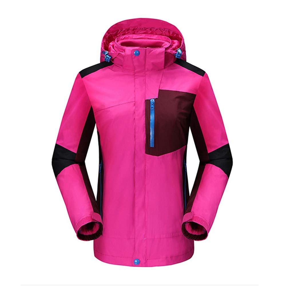 2ピース取り外し可能な防水服登山スキー釣り服 (色 : ローズレッド, サイズ : M) ローズレッド Medium