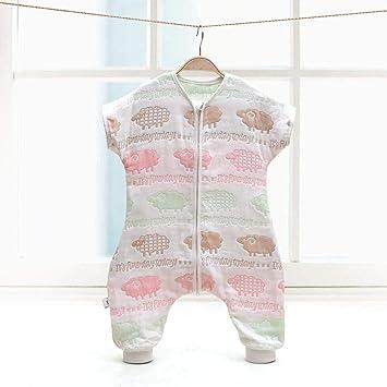 Gleecare Saco de Dormir para bebé,Manga Desmontable Fractura algodón Todo en una Camiseta de