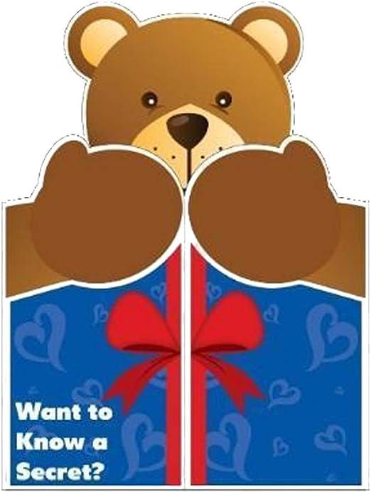 Amazon.com: 2 x3 gigante oso abrazo tarjeta de ...