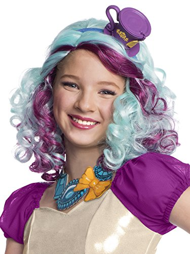 Rubies Ever After High Child Madeline Hatter Wig with Headpiece -