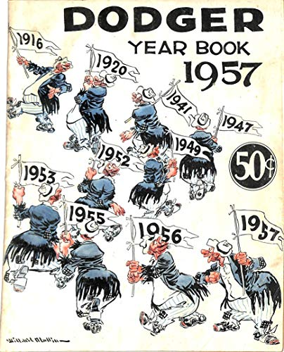 Brooklyn Dodgers 1957 Official Yearbook Program Unsigned