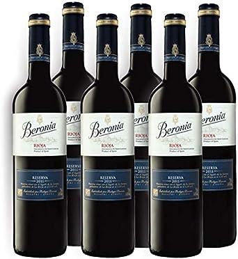 Vino tinto Beronia Reserva de 75 cl - D.O. La Rioja - Bodegas Gonzalez Byass (Pack de 6 botellas): Amazon.es: Alimentación y bebidas
