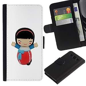 For Samsung Galaxy S3 III i9300 i747 Case , Cartoon Girl Character Figurine - la tarjeta de Crédito Slots PU Funda de cuero Monedero caso cubierta de piel