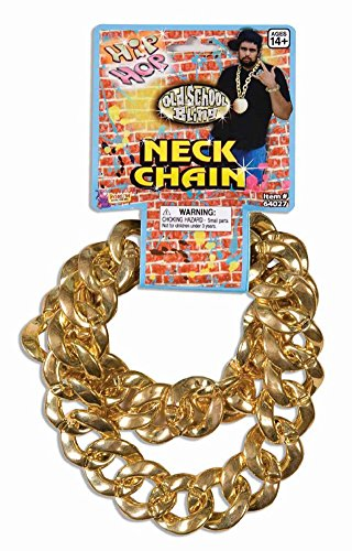 Jumbo Bling Old School Gold Costume Chain -
