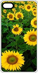 Field Of Healthy Sunflowers White Rubber Case for Apple iPhone 6 Plus