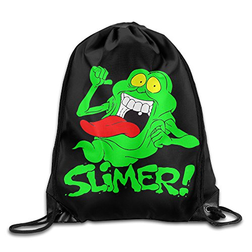 Drawstring Tote Backpack Bag Ghostbusters Slimer Logo -